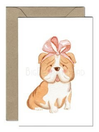 Adorable Bulldog Card