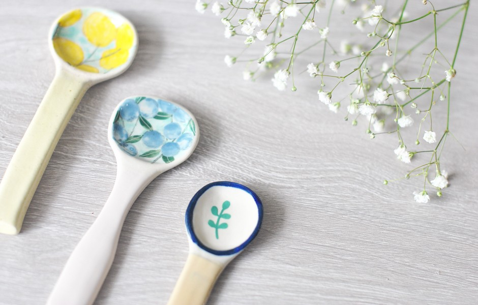Ceramic Spoon - Leaf