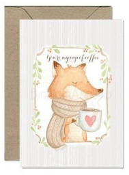 Coffee Lover Fox Card