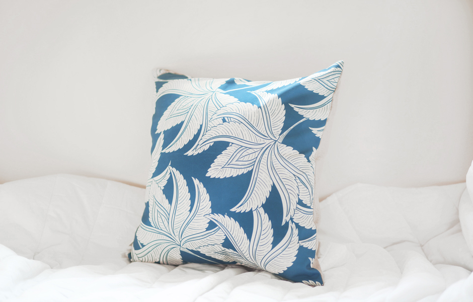 Cushion Cover - Palm Spring Aegean Blue