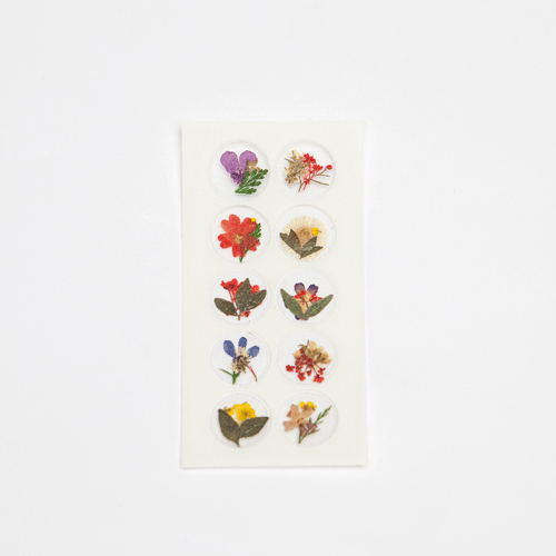 Dried Flower Sticker - Spring