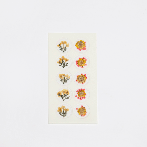 Dried Flower Sticker - Summer
