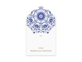 Gift Tag Porcellana (Set Of 12)
