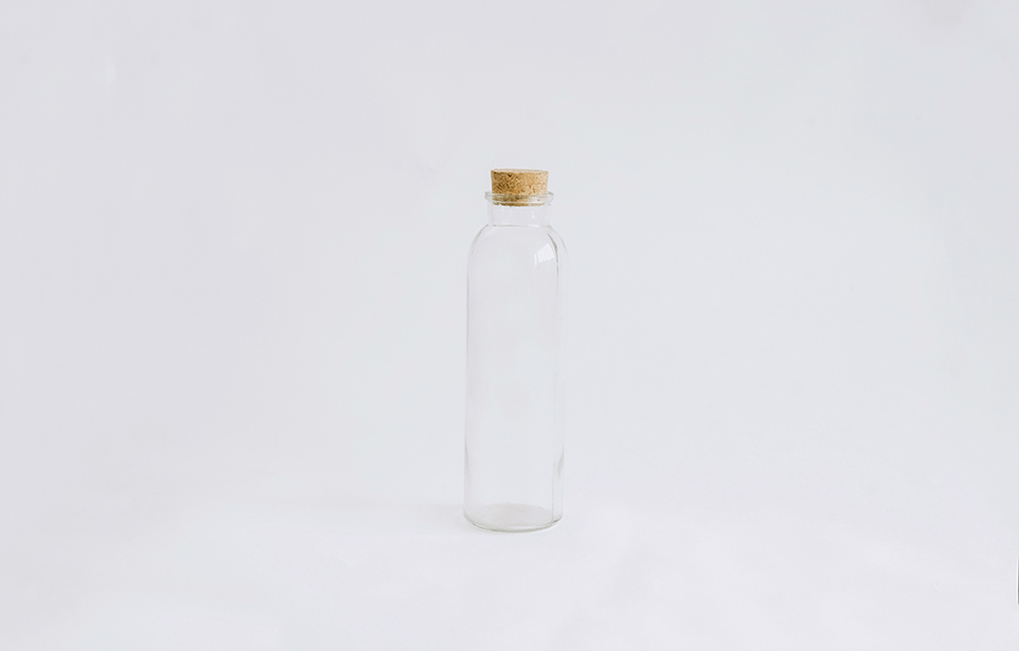 Glass Bottle - Long Round