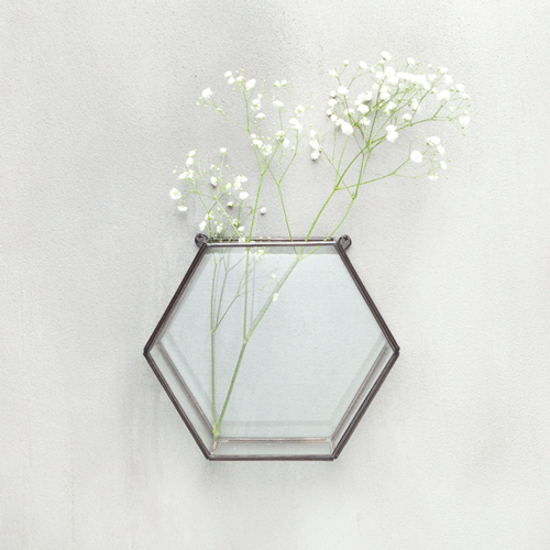 Hexagonal Hanging Glass