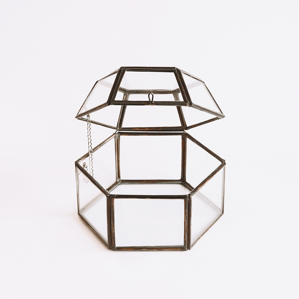 Jewellery Glass Polygon #001 - Brown