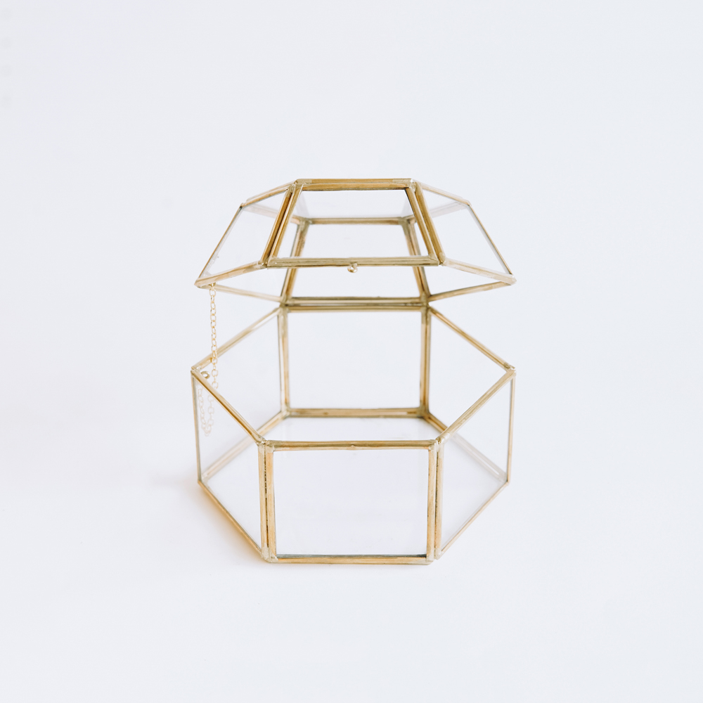 Jewellery Glass Polygon #001 - Gold