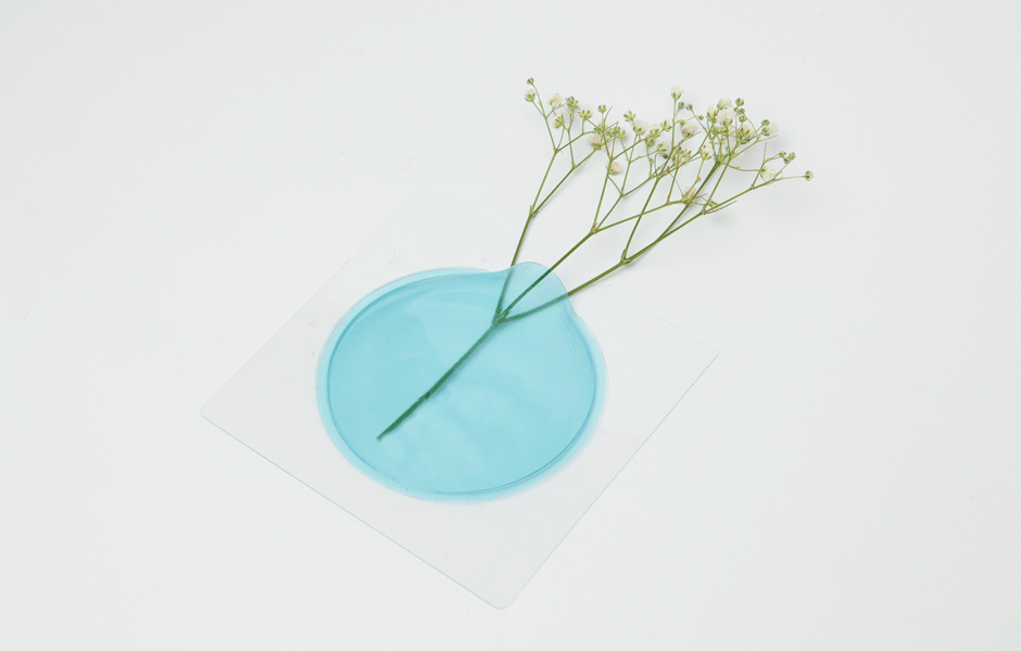 Kaki Flower Vase - Blue