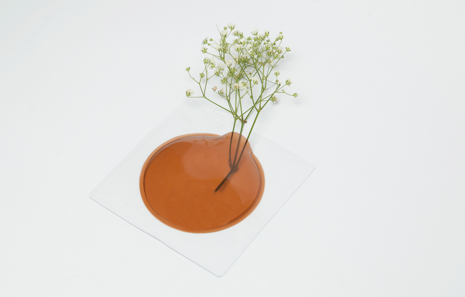 Kaki Flower Vase - Orange