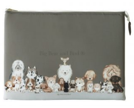 Laptop Case- Friendly Puppies