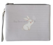 Leather Pouch- Adorable Bunny