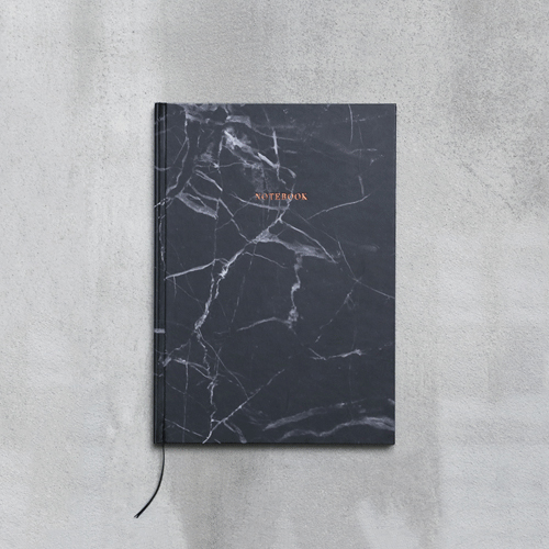 Marble Notebook - Black