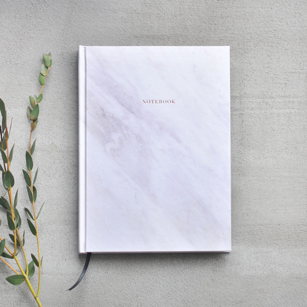 Marble Notebook - White