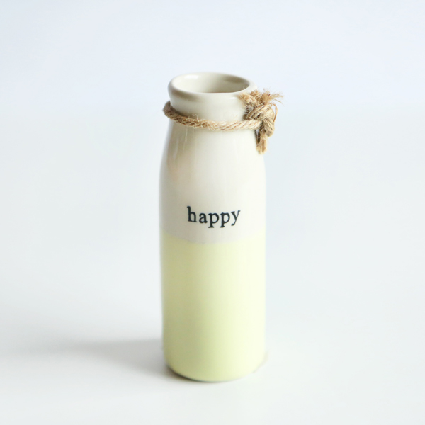 MILK BOTTLE - HAPPY