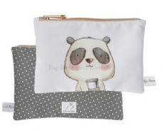 Mini Pouch- Coffee Panda