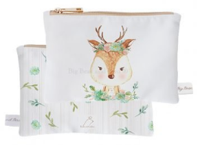 Mini Pouch- Garden Deer
