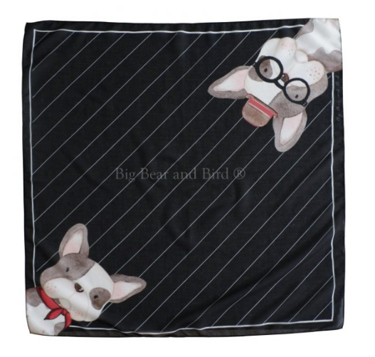 Mini Scarf Retro Frenchie