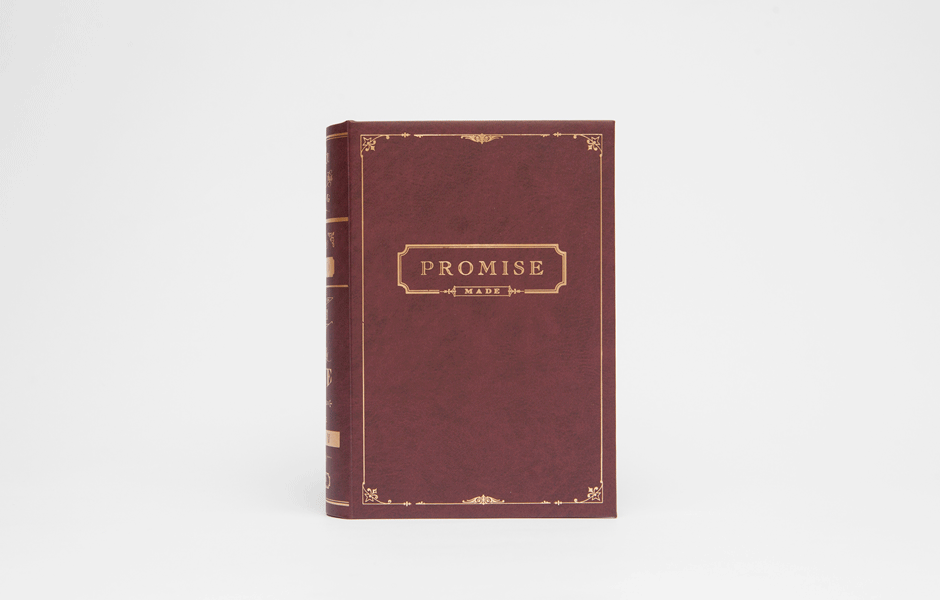 Promise Book Ring Box - Brick Red