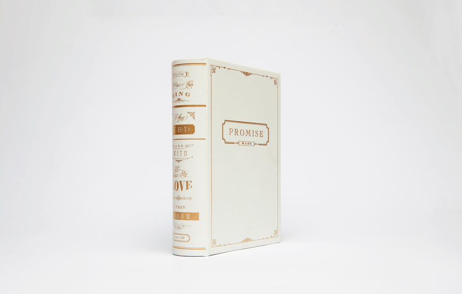 Promise Book Ring Box - Off-White
