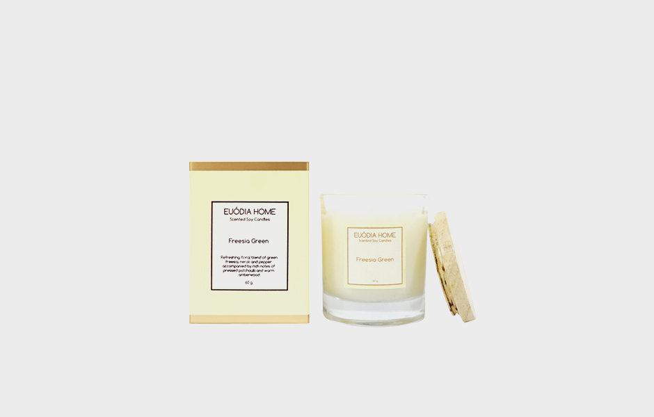Soy Scented Candle - Freesia Green 60 gr