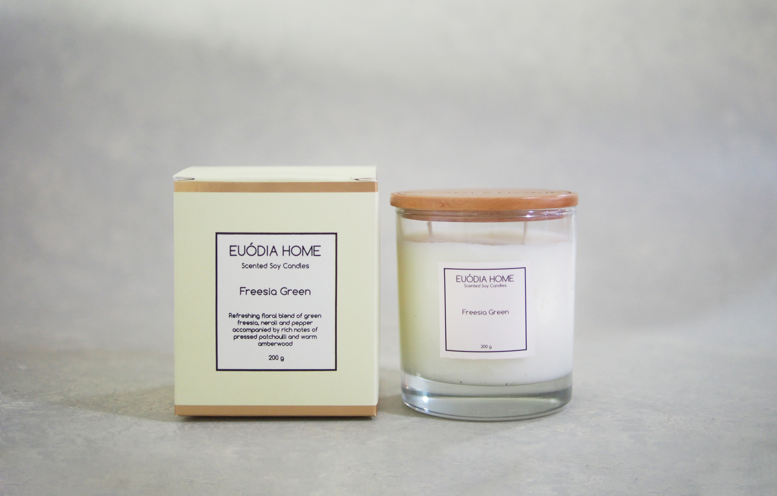 Soy Scented Candle - Freesia Green