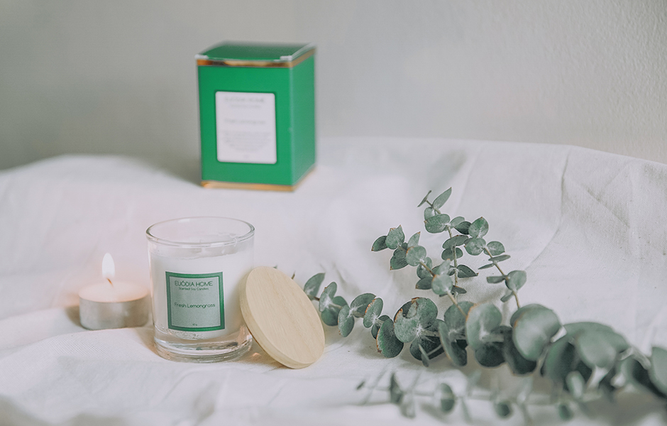 Soy Scented Candle - Fresh Lemongrass 60 gr