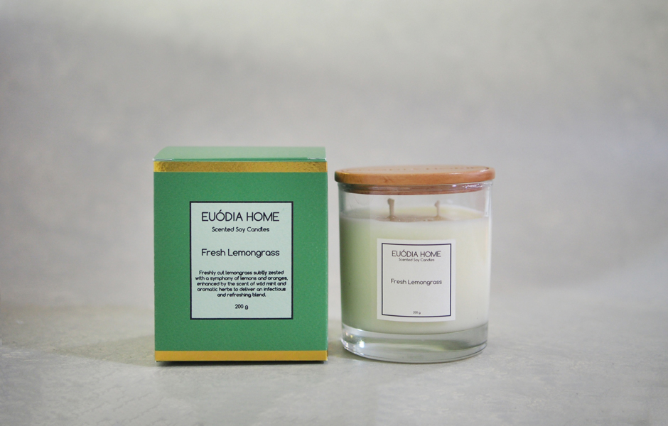 Soy Scented Candle - Fresh Lemongrass