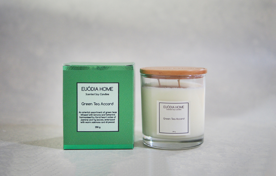 Soy Scented Candle - Green Tea Accord