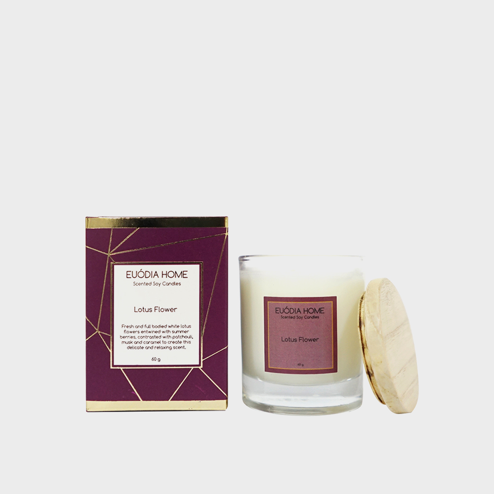 Soy Scented Candle - Lotus Flower 60 gr