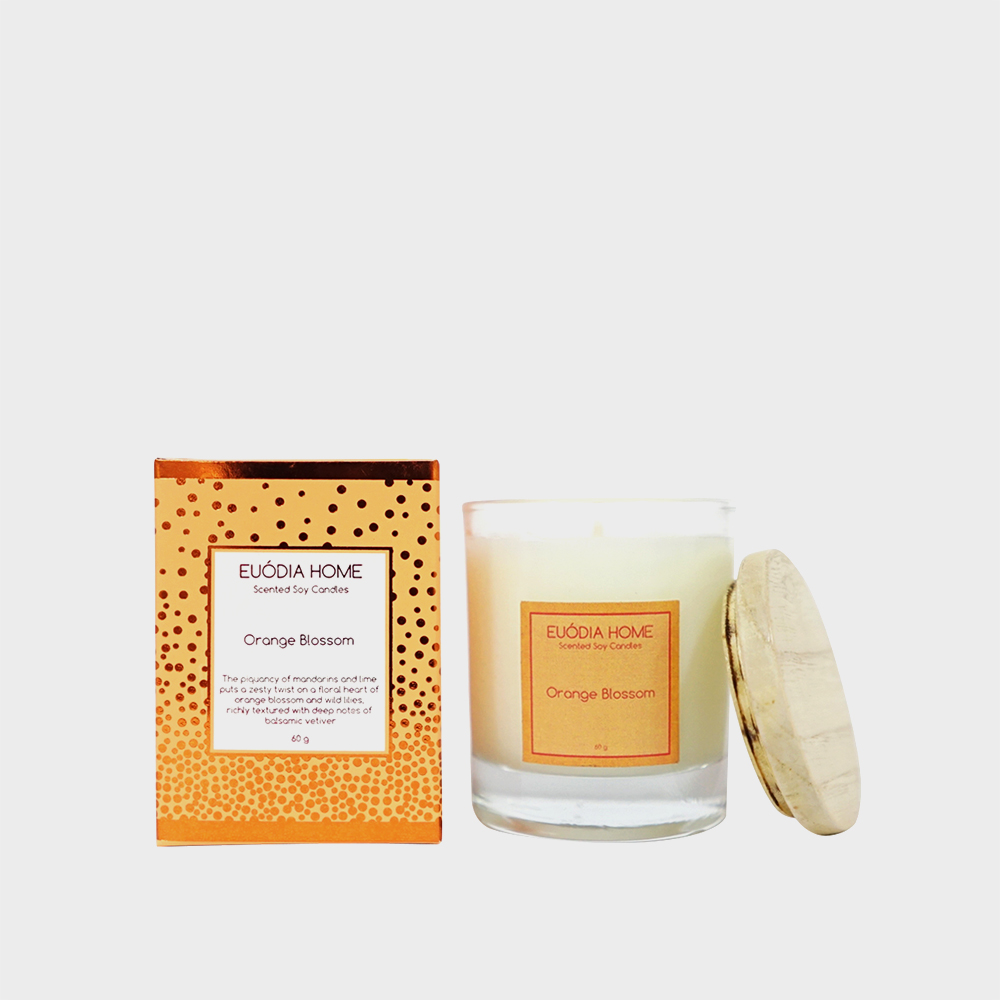 Soy Scented Candle - Orange Blossom 60 gr