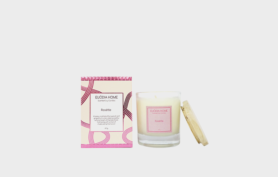 Soy Scented Candle - Rosette 60 gr