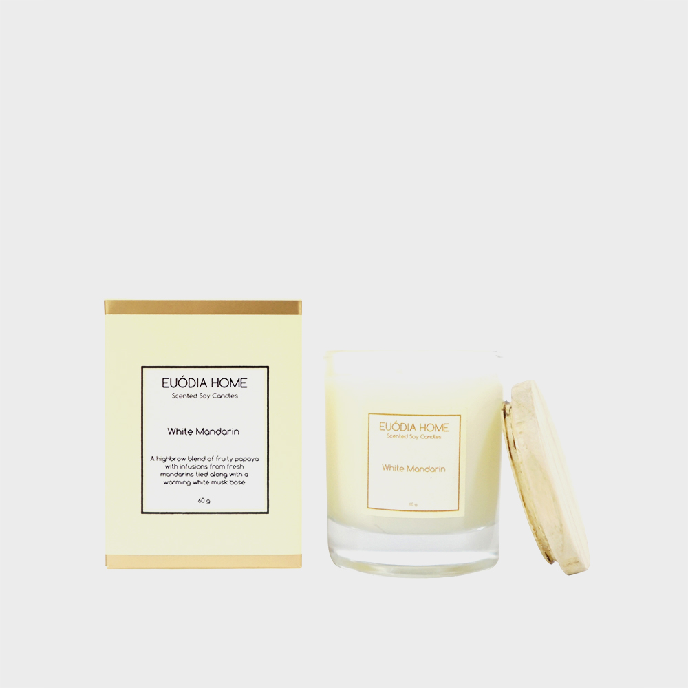Soy Scented Candle - White Mandarin 60 gr