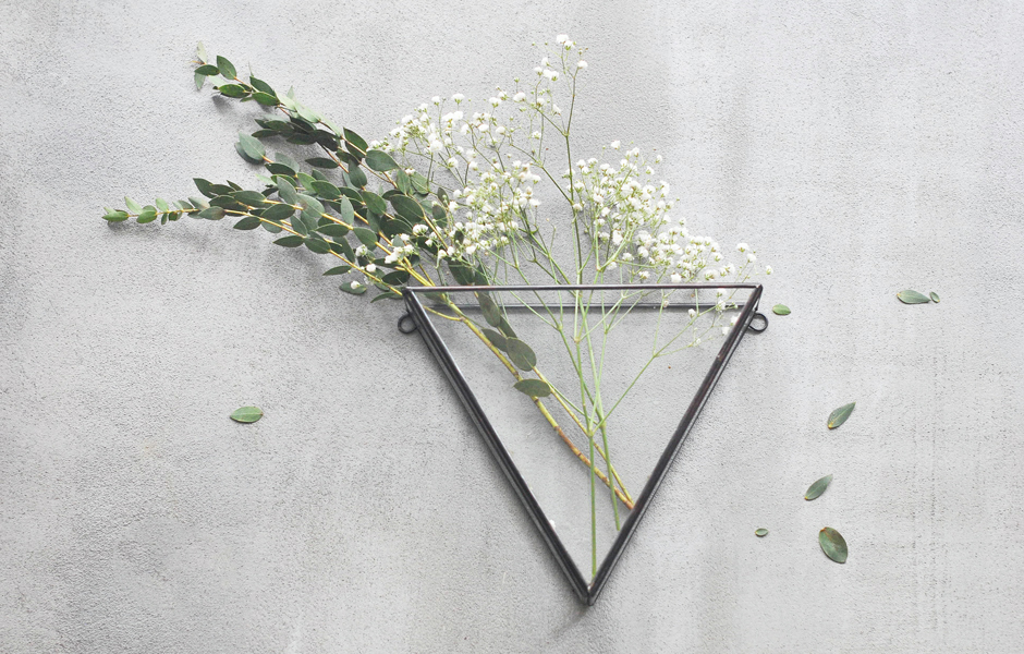 Triangle Hanging Glass