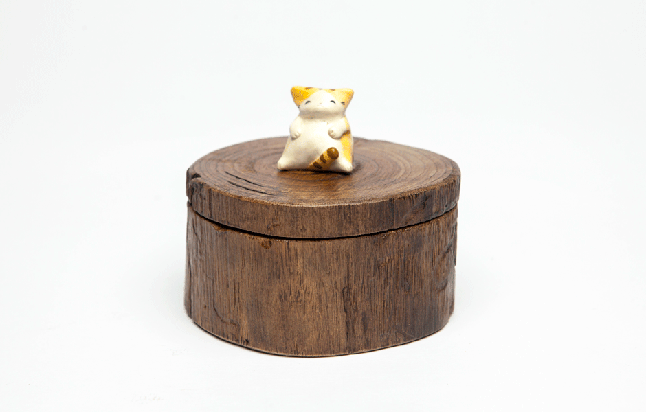 Wood Kitten - Large