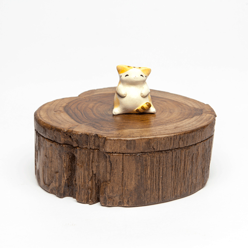 Wood Kitten - Small